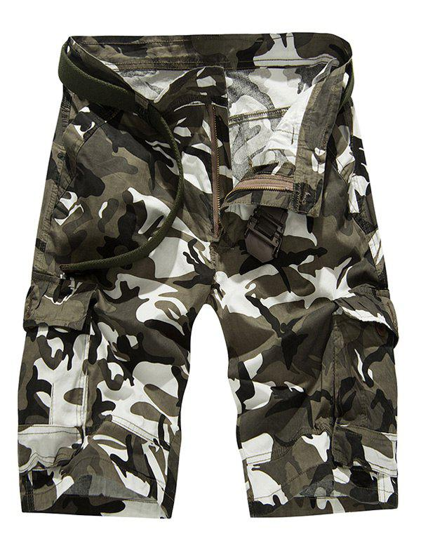 Fashion Loose Fitting Camo Bomber Shorts For Men - JUNGLE CAMOUFLAGE 40