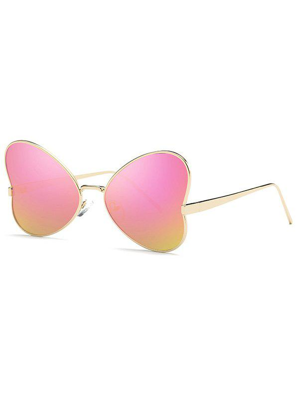 Stylish Hipsters Heart Shape Mirrored Sunglasses - PURPLE