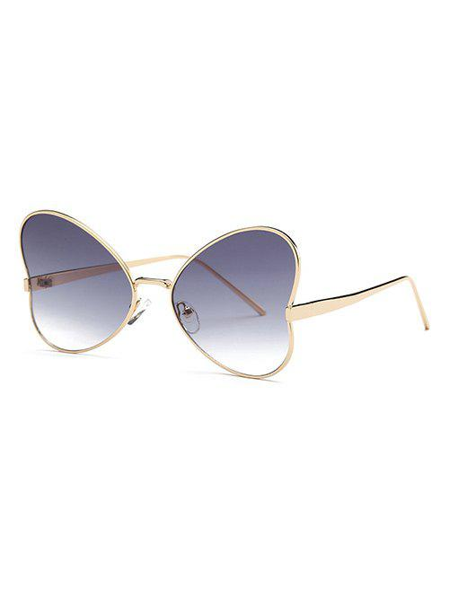 Stylish Hipsters Heart Shape Sunglasses - GRAY