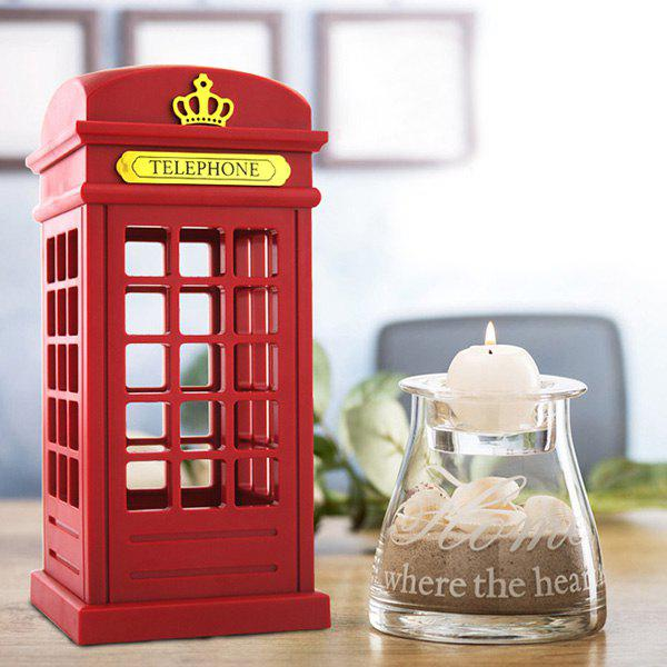 Pretty Telephone Booth Shape LED Sensor Rechargeable Bedroom Lamp - RED