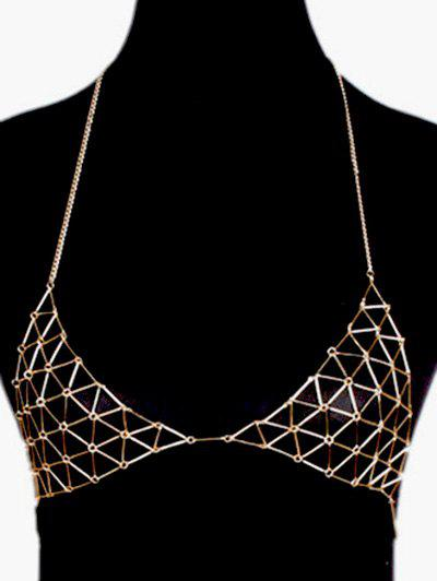 Vintage Triangle Bra Body Chain - GOLDEN