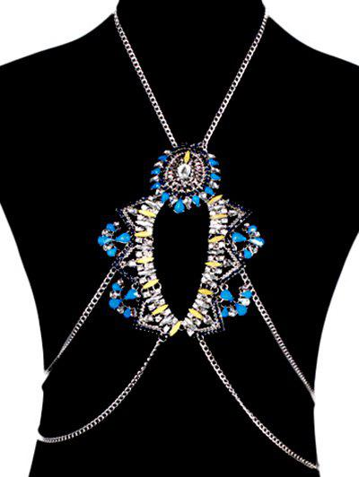 Chic Water Drop Body Chain - BLUE