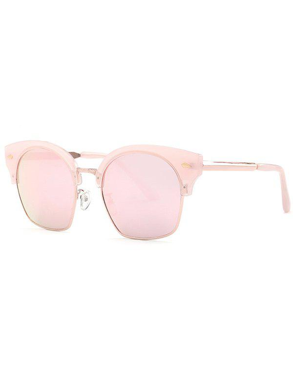 Stylish Trendsetter Pink Mirrored Sunglasses - PINK