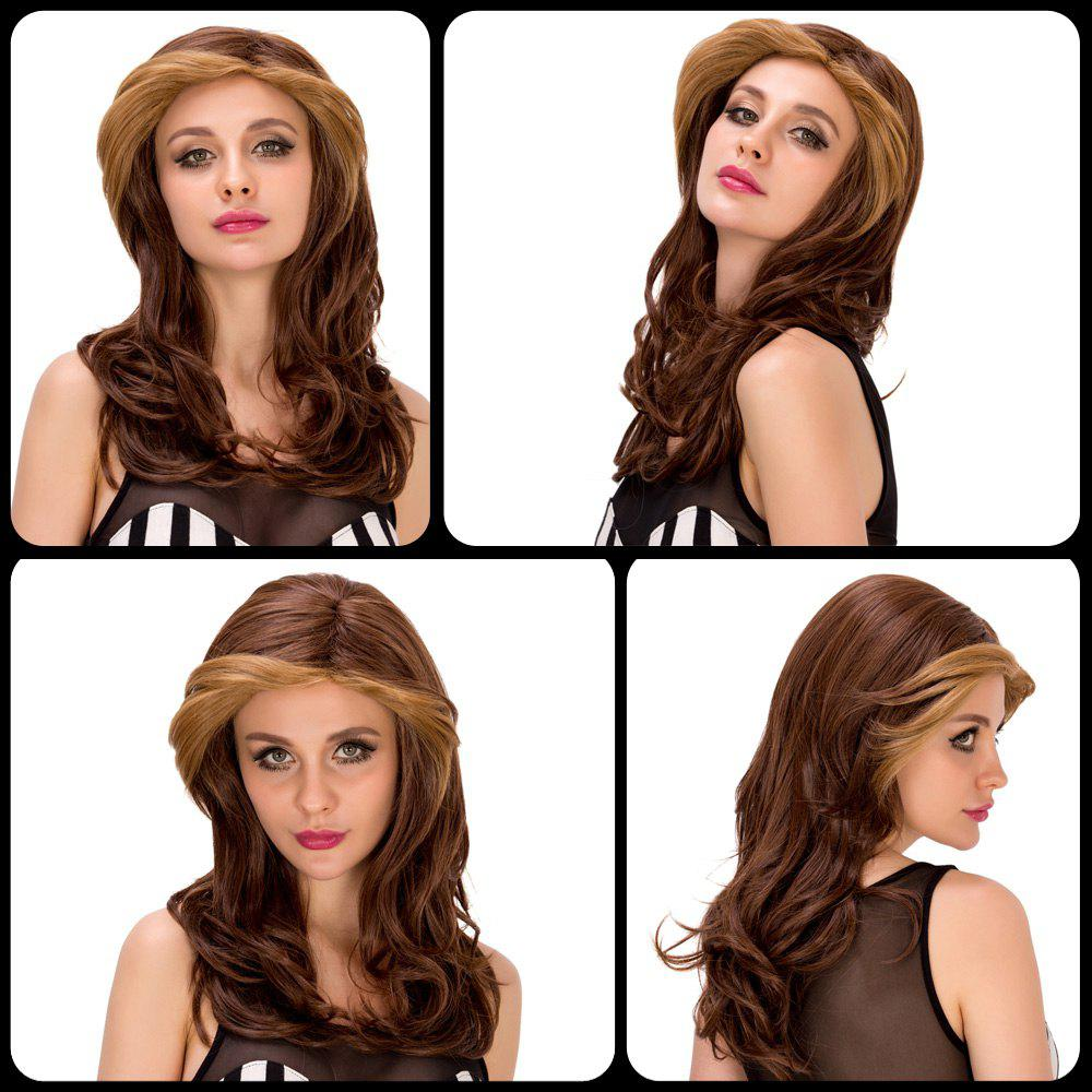 Charming Women's Long Wavy Mixed Color Synthetic Hair Wig