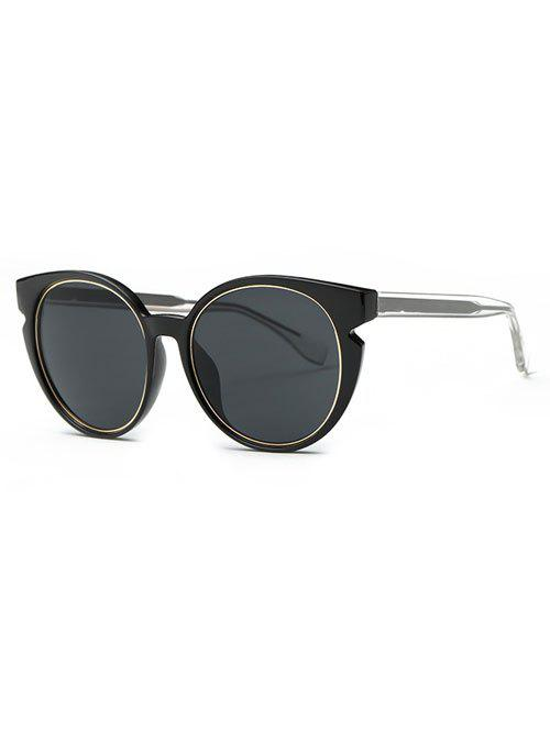 Stylish Full Frame Cat Eye Sunglasses - BLACK GREY