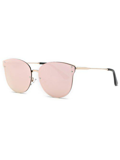 Stylish Pink Frameless Mirrored Sunglasses