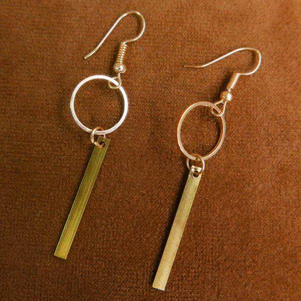 Pair of Chic Circle Bar Earrings For Women