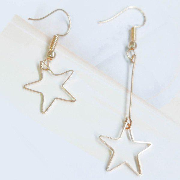Hollow Out Pentagram Drop Earrings -  GOLDEN