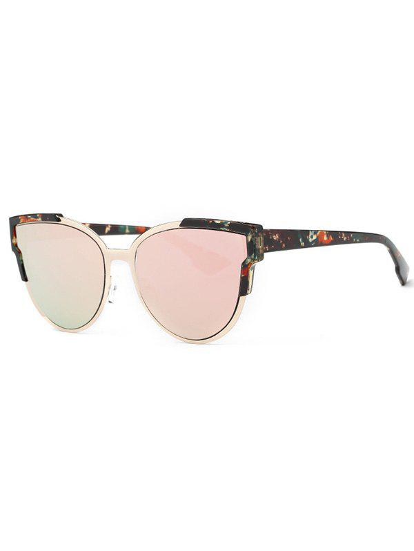 Stylish Print Cat Eye Mirrored Sunglasses -  PINK