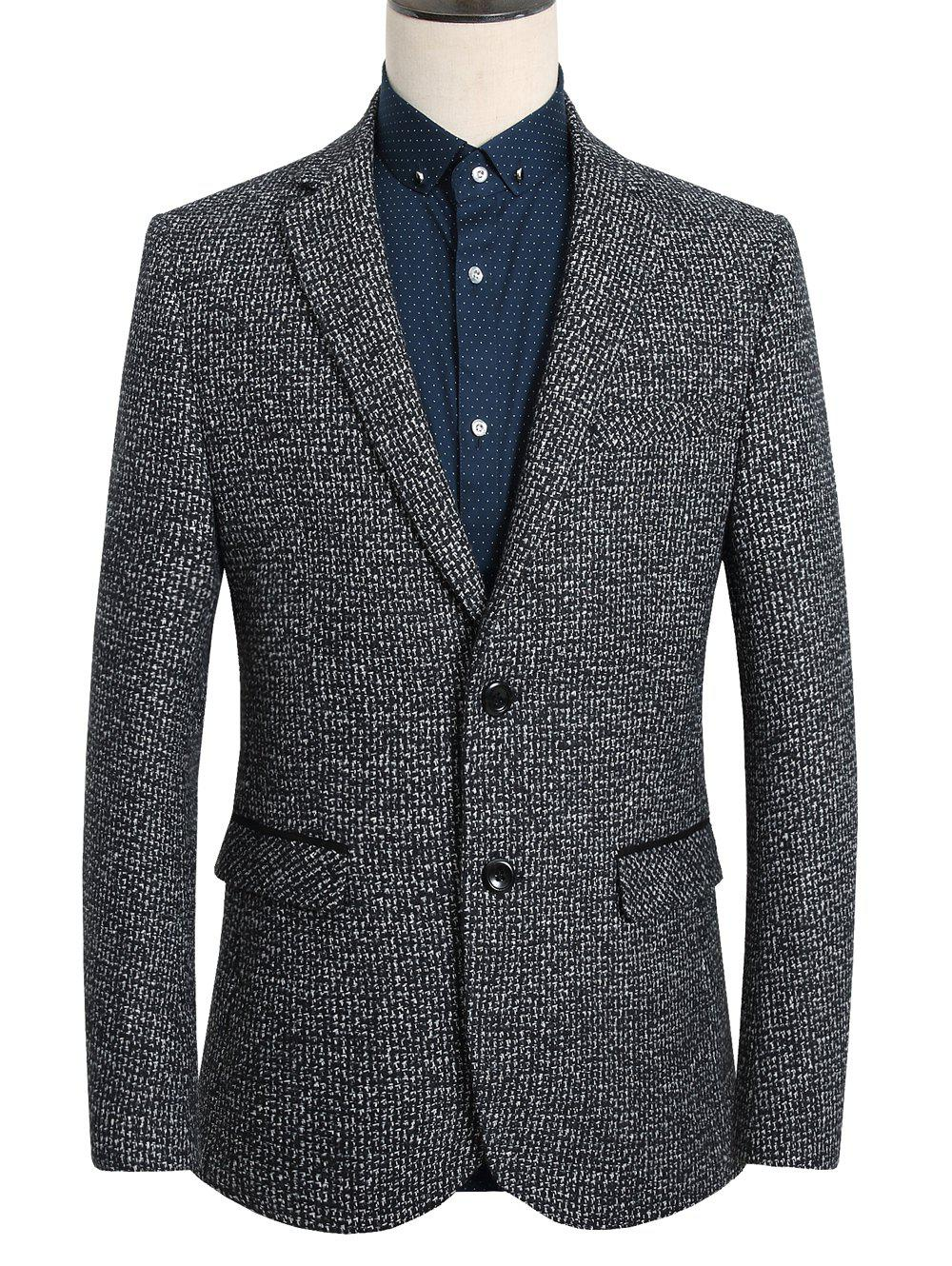 Single-Breasted Vintage Lapel Long Sleeve Men's Blazer