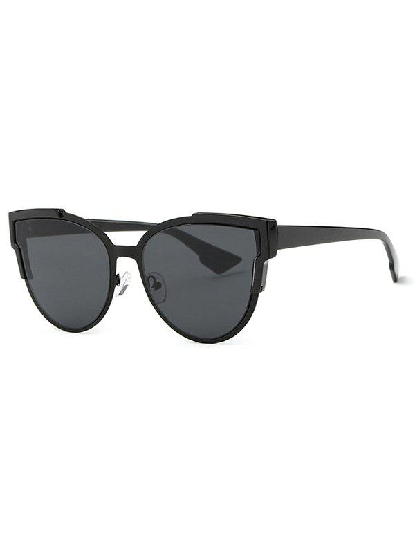 Stylish Trendsetter Print Cat Eye Sunglasses - BLACK GREY