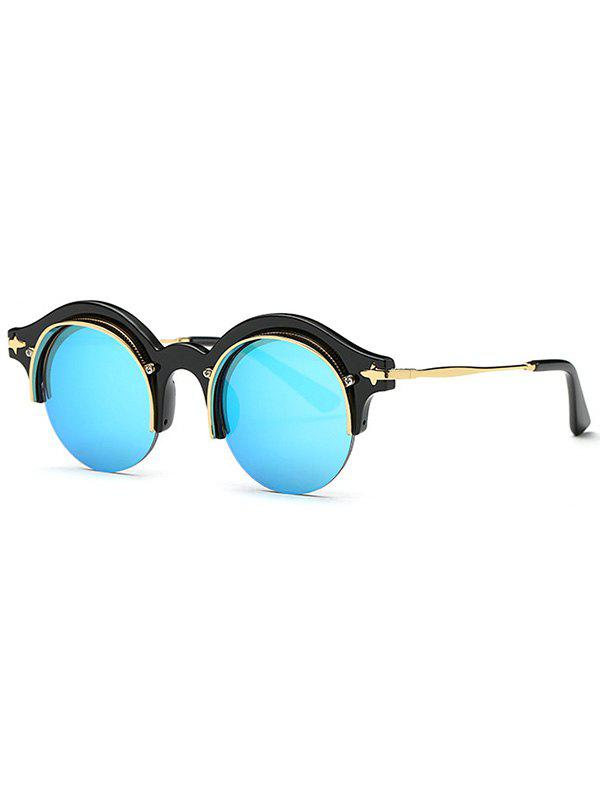 Stylish Round Eyebrow Mirrored Sunglasses