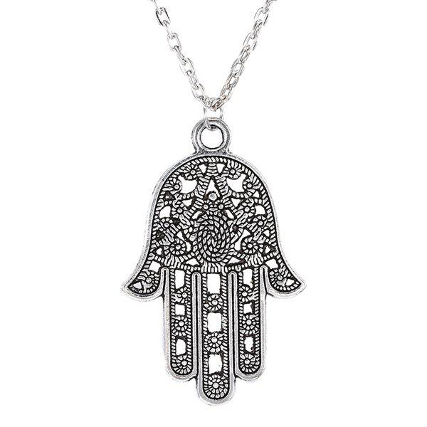 Chic Hollow Out Hand Sweater Chain For Women - SILVER