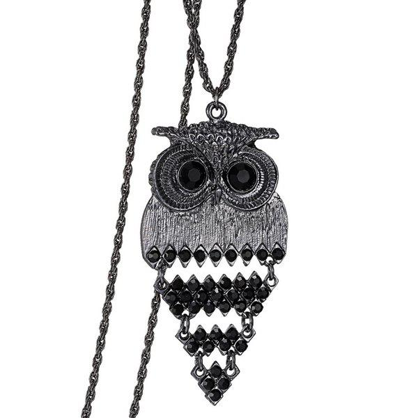 Trendy Alloy Owl Sweater Chain For Women vintage alloy owl sweater chain for women