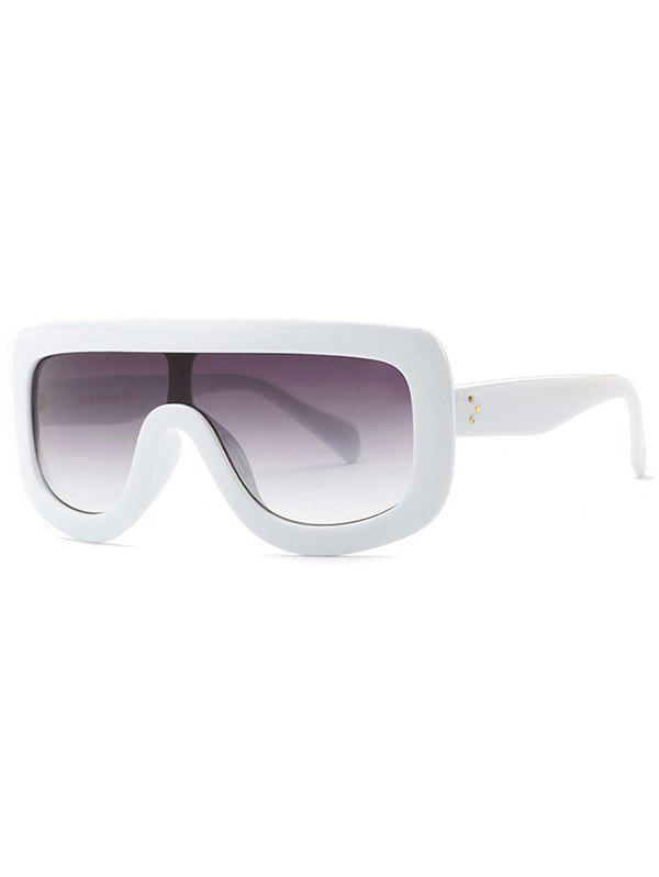 Stylish Leopard Pattern Integrated Oversized SunglassesAccessories<br><br><br>Color: WHITE