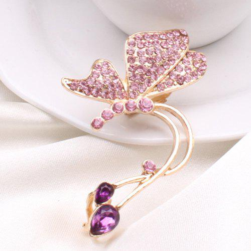 ONE PIECE Butterfly Rhinestone Ear Cuff - PINK