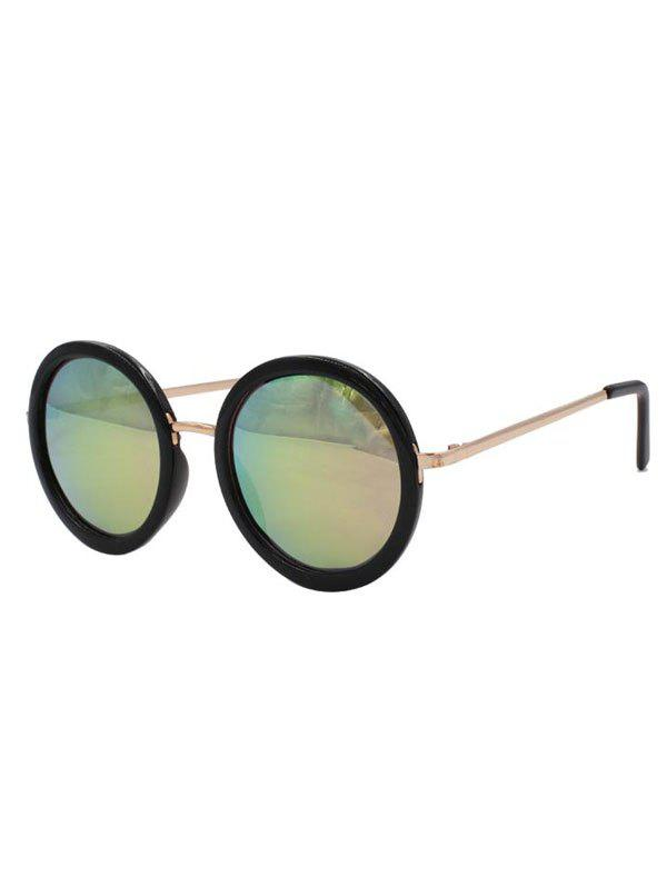 Stylish Colorful Round Mirrored Sunglasses - COLORMIX