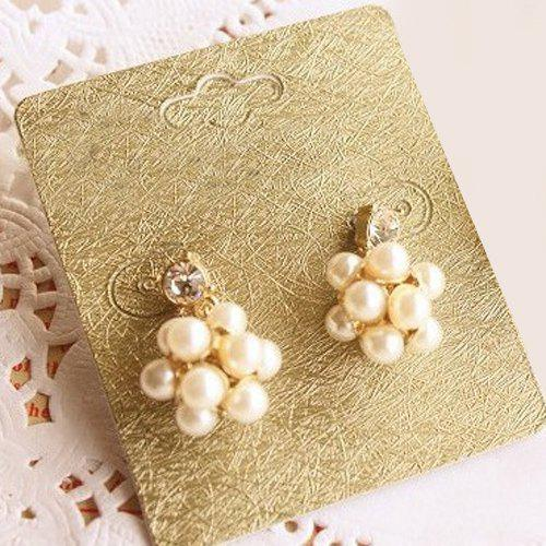 Pair of Stunning Faux Pearl Ball Earrings For Women