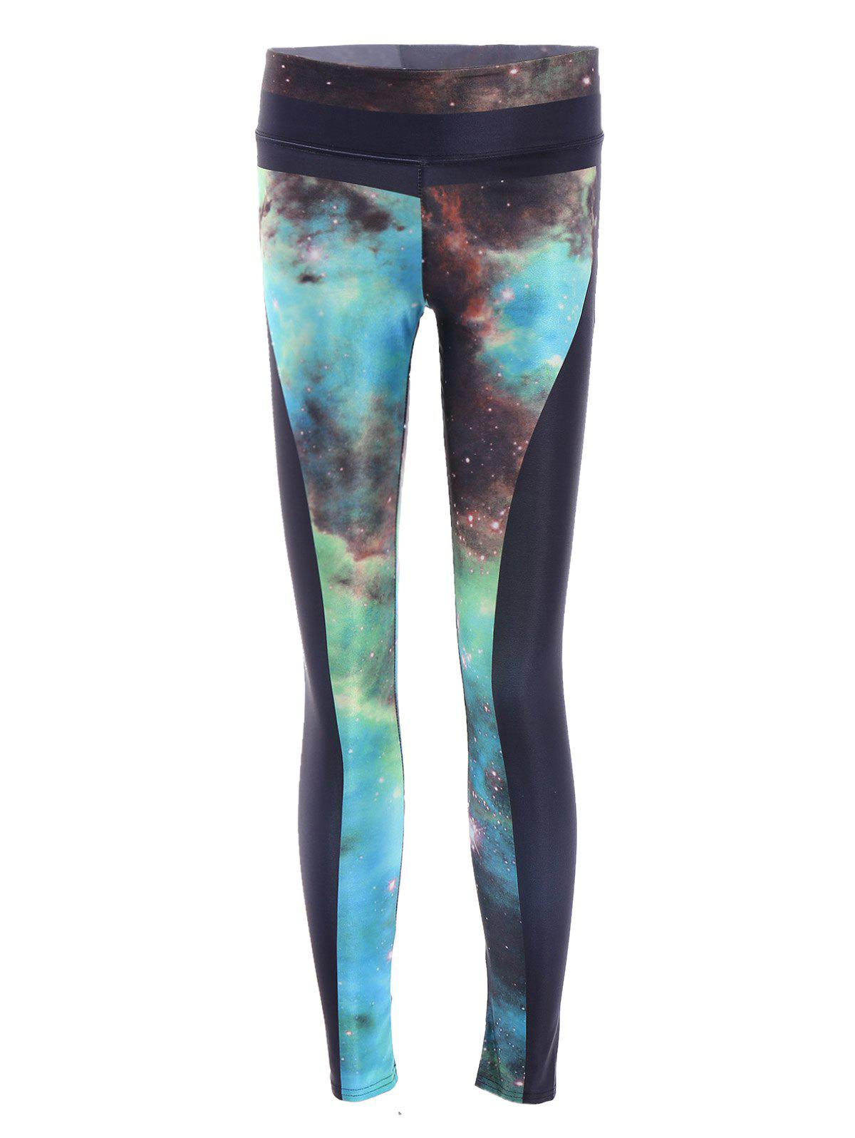 Chic High Stretchy Stars Print Leggings For Women - COLORMIX ONE SIZE(FIT SIZE XS TO M)