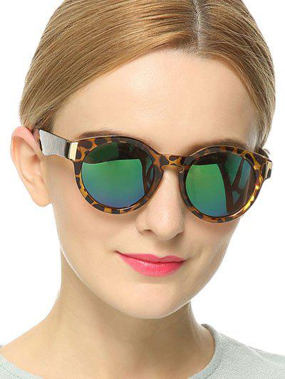 Stylish Leopard Frame Polarized Mirrored Sunglasses - LEOPARD