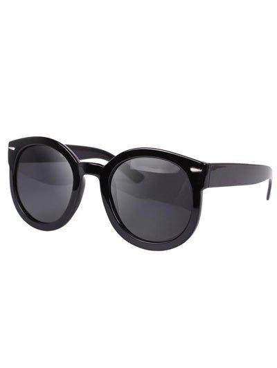 Stylish Black Full Frame Polarized Sunglasses - GRAY