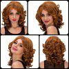 Medium Curly Side Parting Colormix Synthetic Hair Wig - COLORMIX