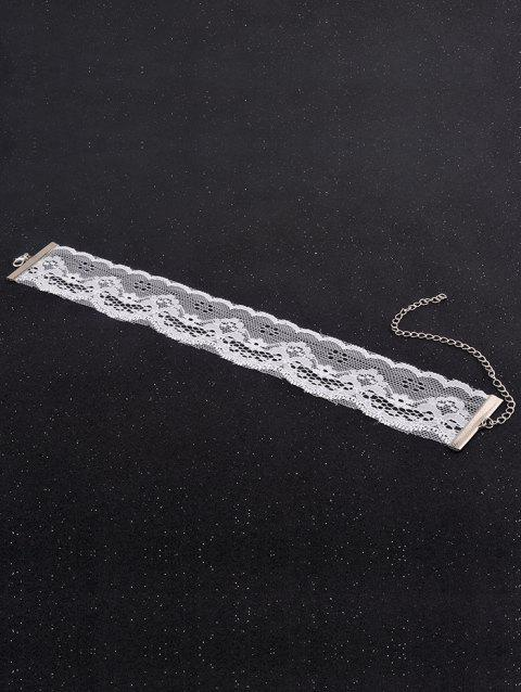 Vintage Hollow Out Choker - WHITE