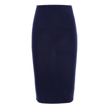 OL Style Pure Color High Waist Skinny Skirt For Women