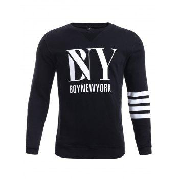 BoyNewYork Stripes Triangle Pattern Sweatshirt