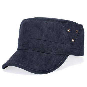 Stylish Hollow Hole Embellished Flat Top Men's Military Hat