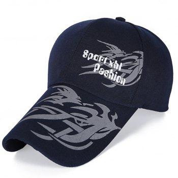 Stylish Handpainted Dragon Head Pattern Men's Baseball Hat