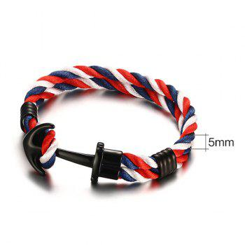 Vintage Double Colored Layered Anchor Bracelet For Men - COLORFUL