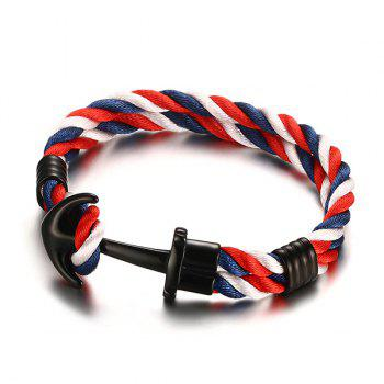 Vintage Double Colored Layered Anchor Bracelet For Men