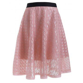 See-Through Lacework A Line Skirt