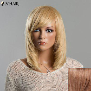 Stunning Women's Medium Straight Adduction Side Bang Siv Human Hair Wig