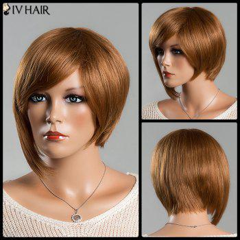 Women's Short Refreshing Side Bang Siv Human Hair Wig
