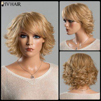 Short Fluffy Tail Upwards Vogue Women's Side Bang Siv Human Hair Wig