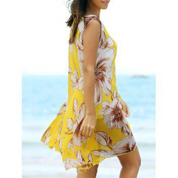 Floral Chiffon A Line Swing Beach Dress