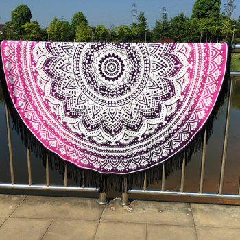 Cool Summer Mandala Lotus Pattern Tassel Yoga Mat Gypsy Cotton Tablecloth Round Beach Throw