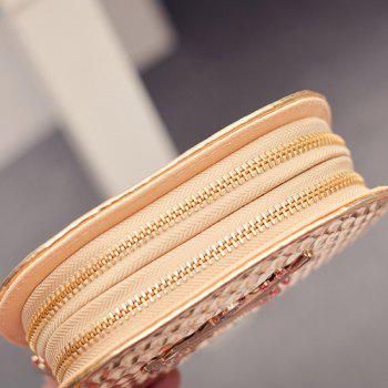 Fashion Embossing and Violin Pattern Design Women's Wallet -  GOLDEN