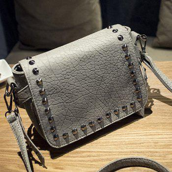 Stylish Magnetic Closure and Metal Rivets Design Women's Crossbody Bag