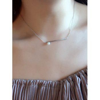 Bar Faux Pearl Necklace
