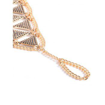 Vintage alliage Triangle Anklet - Or