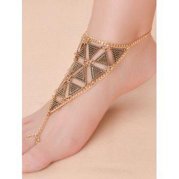 Vintage alliage Triangle Anklet