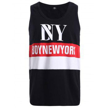 BoyNeckYork Color Splicing Tank Top