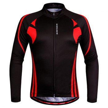 Hot Sale Breathable Zipper Long Sleeve Cycling Jersey For Unisex