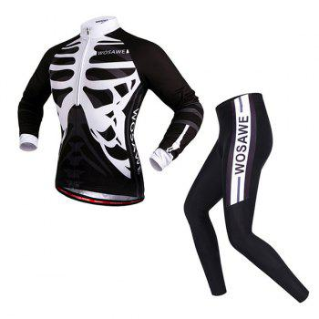 Chic Quality Spring Autumn Sportwear Long Sleeve Cycling Set For Unisex