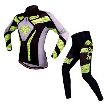 Fashionable Autumn  Spring Sportwear Long Sleeve Cycling Set For Unisex