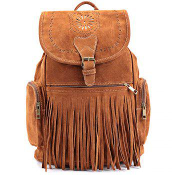 Retro Engraving and Fringe Design Satchel For Women