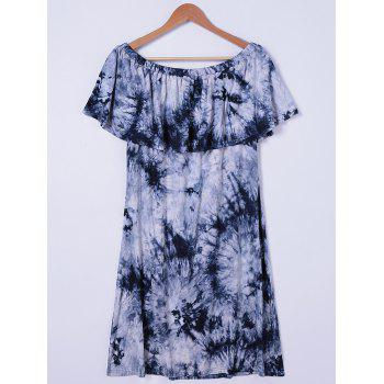 Stylish Tie Dye Off The Shoulder Dress For Women